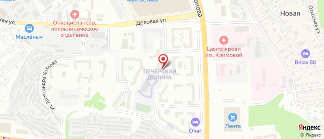 Карта расположения пункта доставки Нижний Новгород Родионова в городе Нижний Новгород
