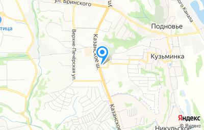 Местоположение на карте пункта техосмотра по адресу г Нижний Новгород, ш Казанское, д 12 к 1