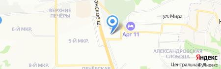 Кураж на карте Нижнего Новгорода
