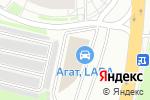 Схема проезда до компании Mitsubishi АГАТ в Нижнем Новгороде