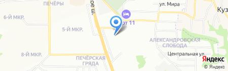 Волжский берег на карте Нижнего Новгорода
