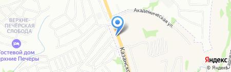 ЗОДЧИЙ-НИЖНИЙ НОВГОРОД на карте Нижнего Новгорода