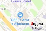 Схема проезда до компании Mitsubishi АГАТ в Афонино