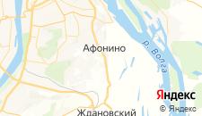 Отели города Афонино на карте