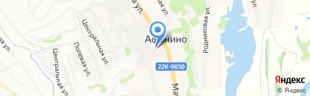 Афонинские лестницы на карте Афонино