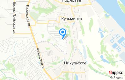 Местоположение на карте пункта техосмотра по адресу г Нижний Новгород, ул Восточная, д 65