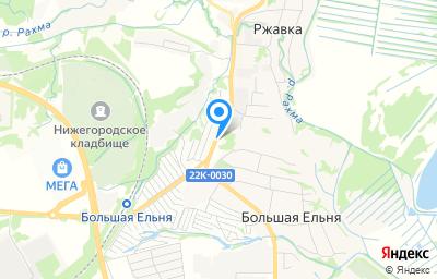 Местоположение на карте пункта техосмотра по адресу Нижегородская обл, Кстовский р-н, д Ржавка, тер Промзона, д 10З
