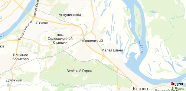 Ждановский на карте