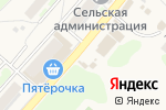 Схема проезда до компании Киоск по продаже фруктов и овощей в Афонино