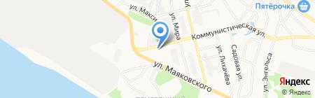 Магазин дисков на Коммунистической на карте Бора
