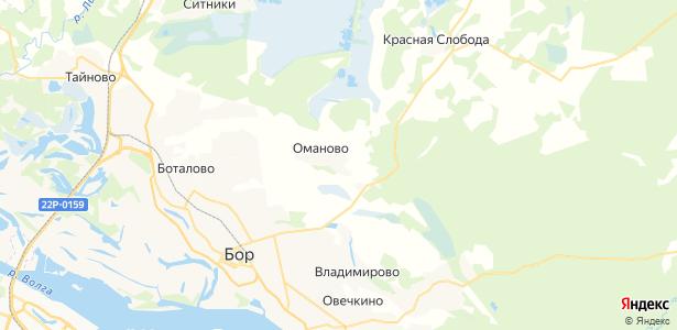 Оманово на карте