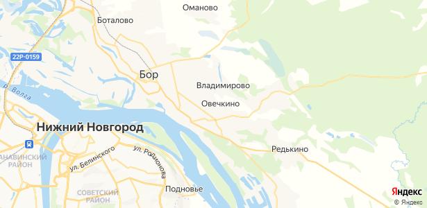 Овечкино на карте