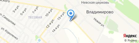 Цветочный парк на карте Бора