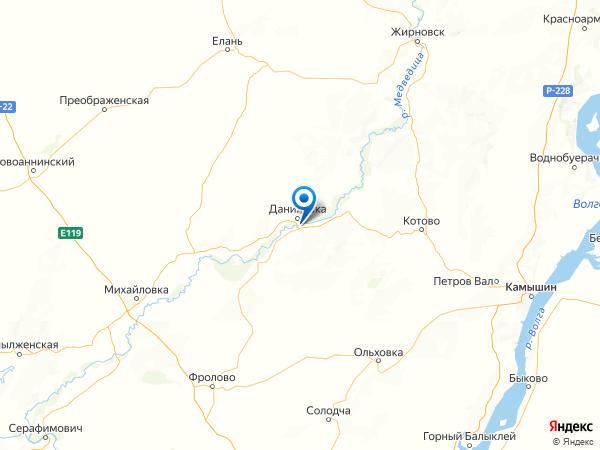 хутор Красный на карте