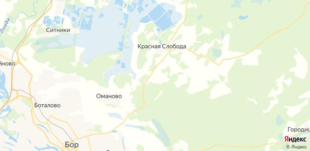 Коринка на карте