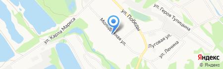 Октябрьский на карте Бора
