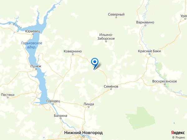 деревня Донское на карте