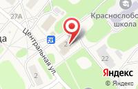 Схема проезда до компании Краснослободская сельская библиотека в Красной Слободе