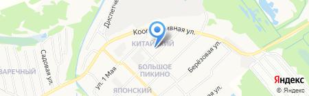 Большепикинский территориальный отдел на карте Бора