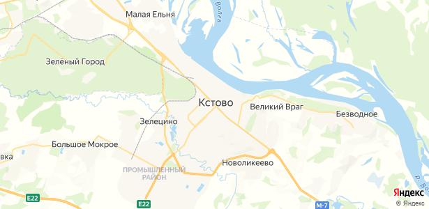Кстово на карте