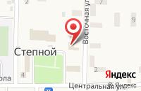 Схема проезда до компании Почтовое отделение №24 в Степном