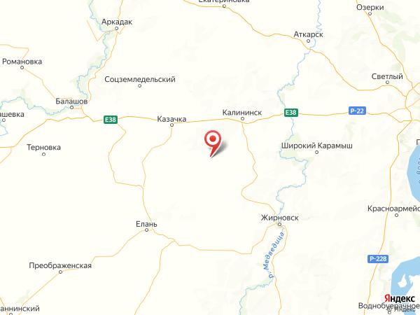 село Таловка на карте