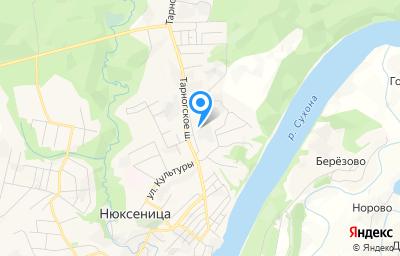 Местоположение на карте пункта техосмотра по адресу Вологодская обл, с Нюксеница, ул Механизаторов, д 7Б