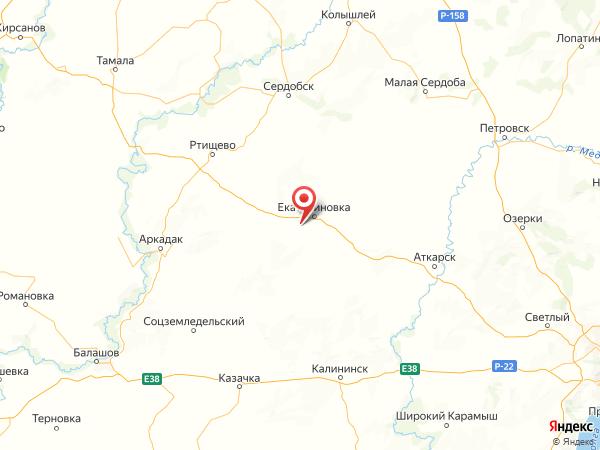 поселок Мирный на карте