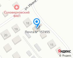 Схема местоположения почтового отделения 157455