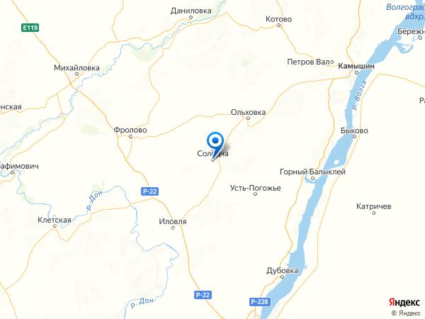 село Солодча на карте