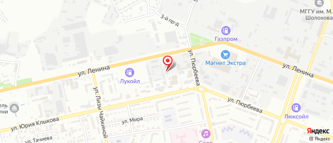 Карта расположения пункта доставки DPD Pickup в городе Элиста
