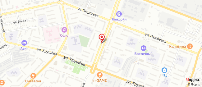 Карта расположения пункта доставки Пункт выдачи заказов в городе Элиста