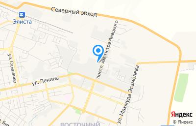 Местоположение на карте пункта техосмотра по адресу г Элиста, пр-кт имени Петра Анацкого, д 29