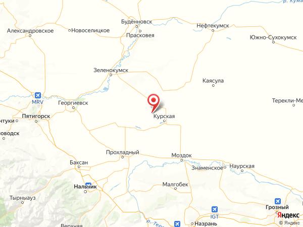 село Озерное на карте