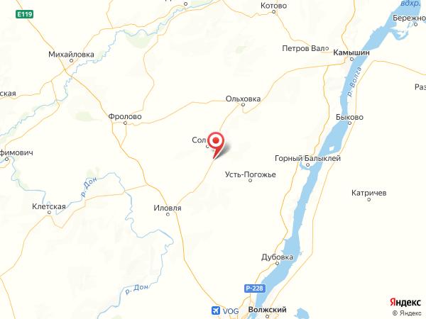 поселок при станции Солодча на карте