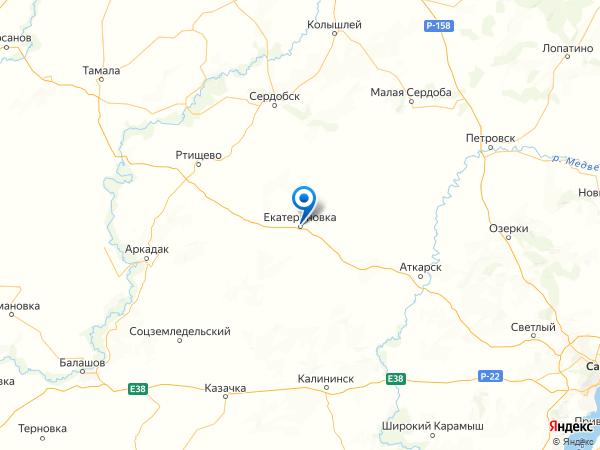 поселок городского типа Екатериновка на карте