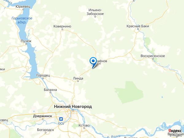 поселок Осинки на карте