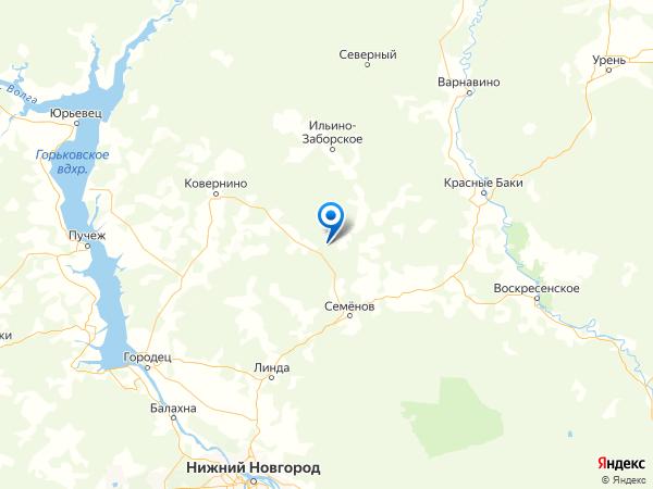 поселок Зарубино на карте