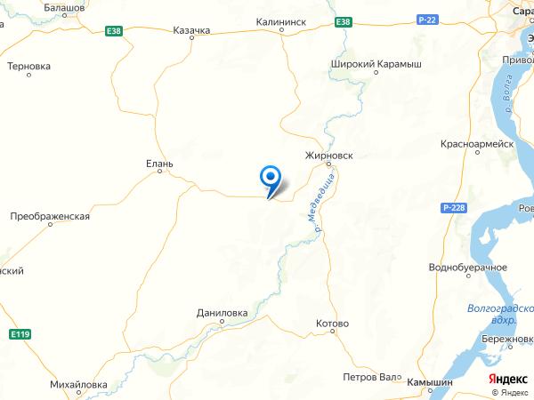 село Ильмень на карте