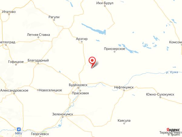 село Новоромановское на карте