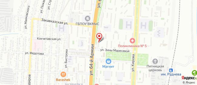 Карта расположения пункта доставки СИТИЛИНК в городе Волгоград