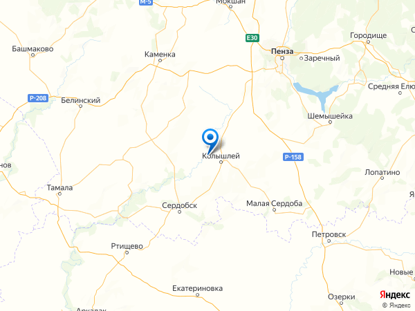 деревня Новая Потловка на карте