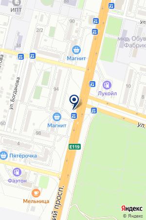 Шиномонтажная мастерская на Университетском проспекте на карте Волгограда