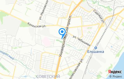 Местоположение на карте пункта техосмотра по адресу г Волгоград, ул им. Гвоздкова, д 1А