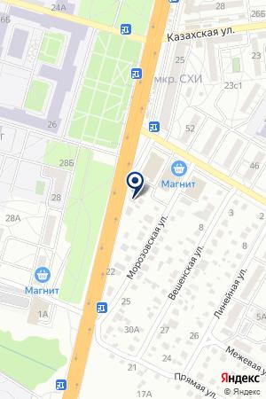 Автоцентр на Суровикинской на карте Волгограда