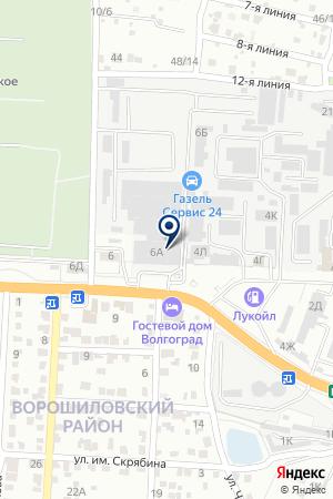 Автолидер на карте Волгограда