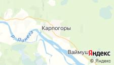 Гостиницы города Карпогоры на карте