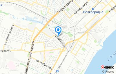Местоположение на карте пункта техосмотра по адресу г Волгоград, ул Садовая, д 39