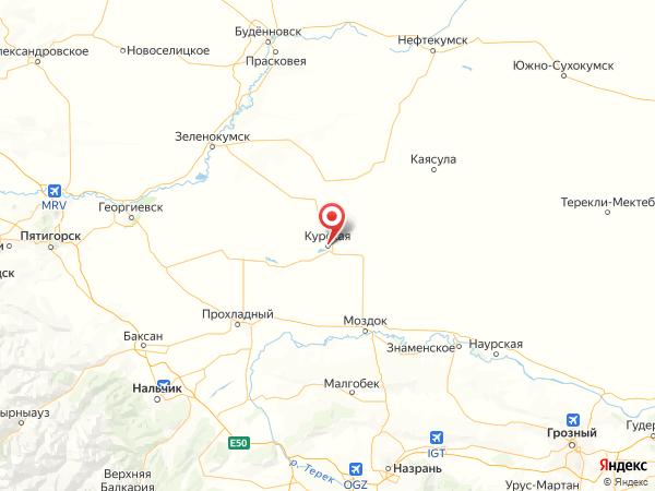 станица Курская на карте