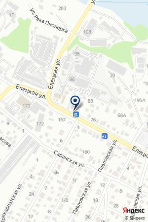 1000 Шин на карте Волгограда